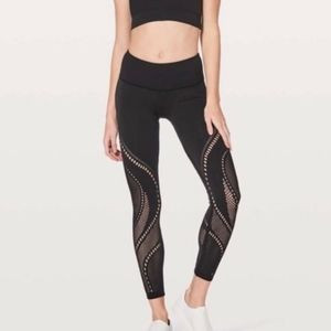 "Lululemon Reveal Tight Precision 25"" Black Size 4"